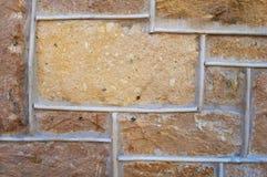 Mur de briques géométrique Photographie stock libre de droits