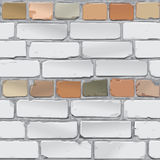 Mur de briques Gris de brique, rouge Fond Vecteur Photo libre de droits