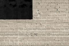 Mur de briques gris en construction Image libre de droits