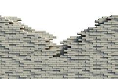 Mur de briques inachevé Images libres de droits