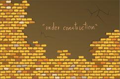 Mur de briques jaune illustration de vecteur