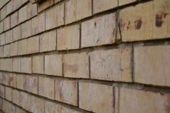 Mur de briques légèrement superficiel par les agents Photographie stock
