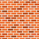 Mur de briques de la brique rouge de différentes nuances illustration libre de droits