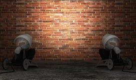 Mur de briques moderne Images libres de droits