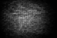 Mur de briques noir, fond de brique photos libres de droits