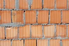Mur de briques non fini Photos stock