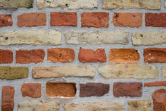 Mur de briques orange image stock