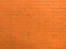 Mur de briques orange photographie stock libre de droits