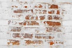 Mur de briques peint Photographie stock libre de droits