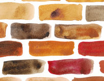 Mur de briques - peinture de watercolour Photographie stock