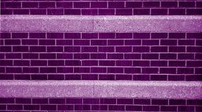 Mur de briques pourpre et blanc Photo libre de droits