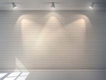 Mur de briques réaliste Image stock