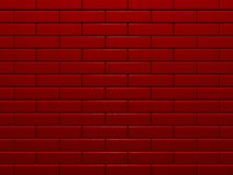 Mur de briques rouge Photo stock