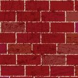 Mur de briques rouge illustration libre de droits