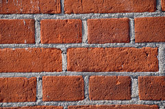 Mur de briques rouge Photos libres de droits