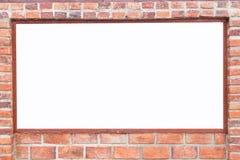 Mur de briques rouge carré abstrait avec l'espace vide blanc pour la conception Photographie stock