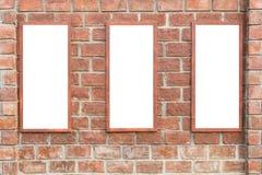 Mur de briques rouge carré abstrait avec l'espace vide blanc pour la conception Images stock