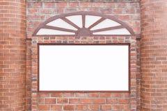Mur de briques rouge carré abstrait avec l'espace vide blanc pour la conception Photographie stock libre de droits
