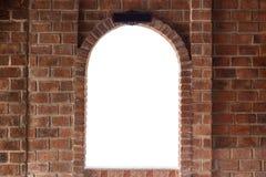 Mur de briques rouge carré abstrait avec l'espace vide blanc pour la conception Photos libres de droits