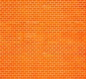 Mur de briques rouge décoratif Image libre de droits