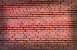 Mur de briques rouge détaillé Images libres de droits