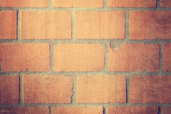 Mur de briques rouge de cru Photographie stock
