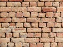 Mur de briques rouge fabriqué à la main image libre de droits