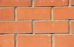 Mur de briques rouge, fond Photos stock