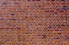 Mur de briques rouge intéressant Photos libres de droits