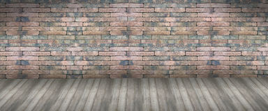 Mur de briques rouge sans joint Photo libre de droits
