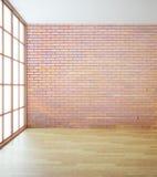 Mur de briques rouge vide Photographie stock libre de droits