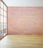 Mur de briques rouge vide Image stock