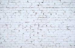 Mur de briques rustique blanc pour la texture ou le fond Photos stock