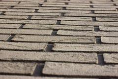 Mur de briques de sable pour le fond dessin, s'étendant dans l'avenir  sensation industrielle, murs de briques de la maison Mur d photos stock