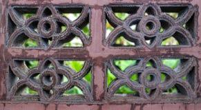 Mur de briques sale, fond de tache floue photographie stock