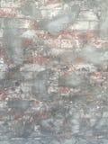Mur de briques sale rustique avec le ciment image libre de droits