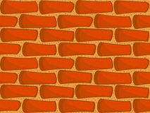 Mur de briques sans joint Photographie stock