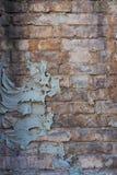 Mur de briques superficiel par les agents Image libre de droits