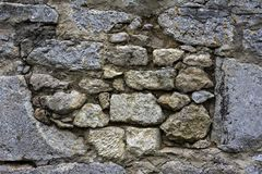 Mur de briques très vieux Photos libres de droits