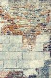 Mur de briques très vieux Image stock