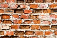 Mur de briques très vieux et endommagé Photos libres de droits