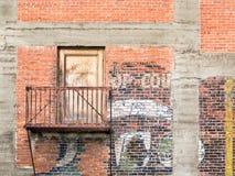 Mur de briques urbain Photo libre de droits