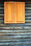 Mur de cabine de log. photo stock