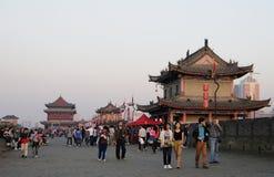 Mur de centre de la ville, Xi'an, Chine Image stock