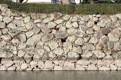 Mur de château de château de Himeji à Himeji Photographie stock