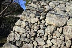 Mur de château de château de Himeji à Himeji Photos stock