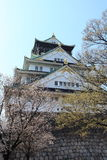 Mur de château de ville d'Osaka, Japon Photo stock