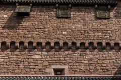 Mur de château médiéval Images libres de droits