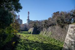 Mur de château de Nagoya au Japon photo libre de droits