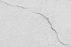 Mur de Chambre avec beaucoup de fissures Photo stock